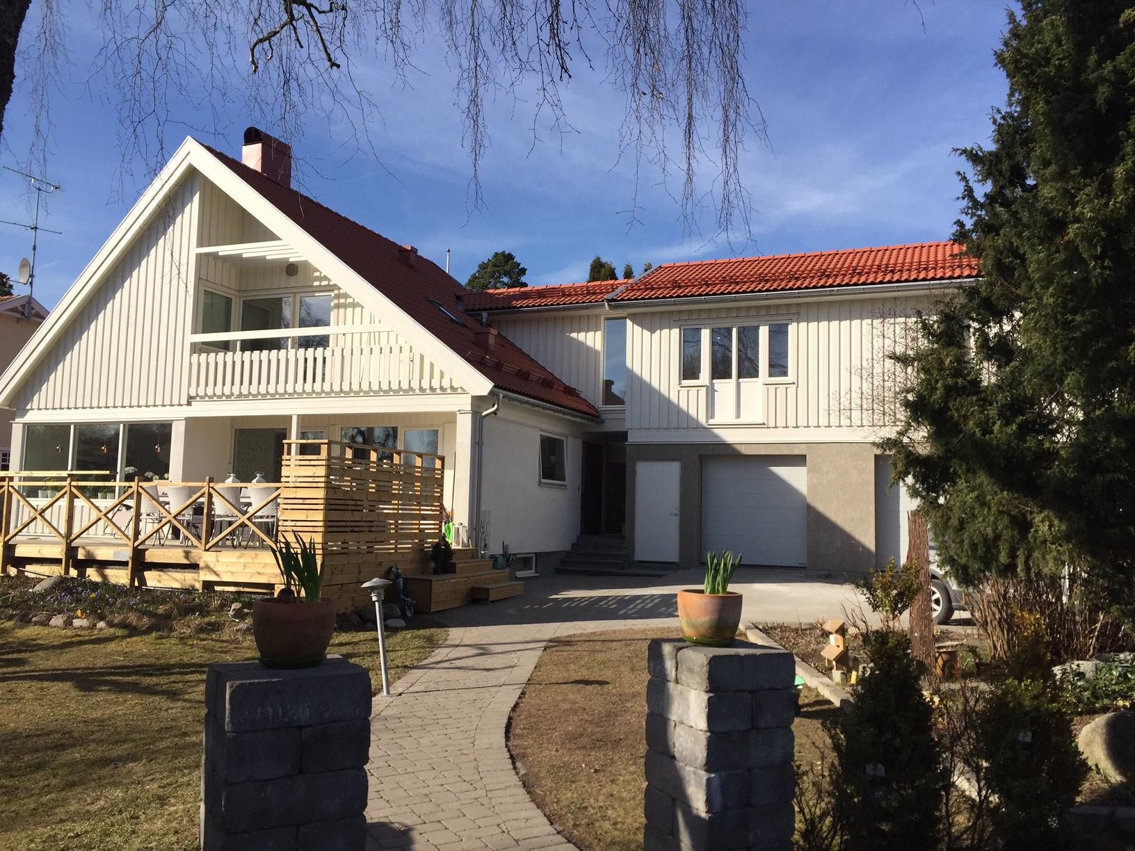 Värtavägen 8, Täby – Utbyggnad av befintligt hus